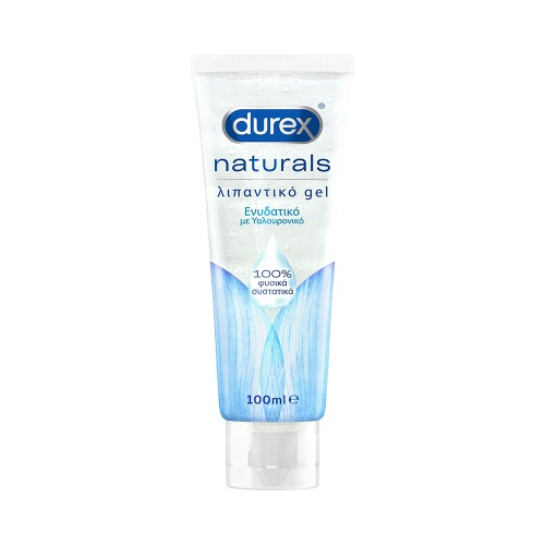 Durex Naturals Moisturizing Lubricating Gel with 100% Natural Ingredients and Hyaluronic Acid 100ml