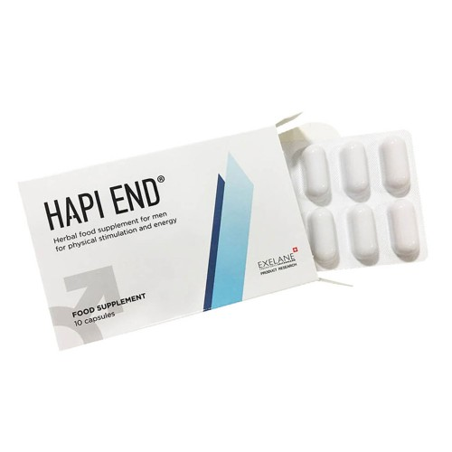 Hapi End Food Supplement for Men's Sexual Stimulation 10caps