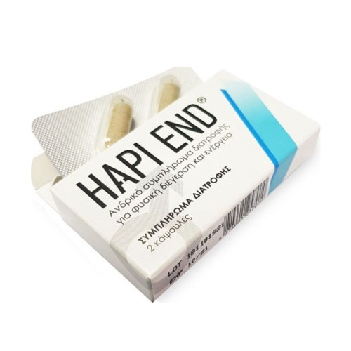Hapi End Food Supplement for Men's Sexual Stimulation 2caps