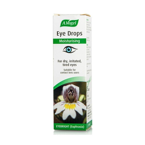 A.Vogel Eye Drops (Collyre) Natural Eye Drops with Euphrasia & Hyaluronic Acid for Dry - Irritated Eyes 10ml