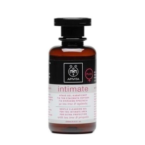 Apivita Intimate Plus Απαλό Gel Καθαρισμού για την Ευαίσθητη Περιοχή με Πρόπολη & Τεϊόδεντρο, 200ml