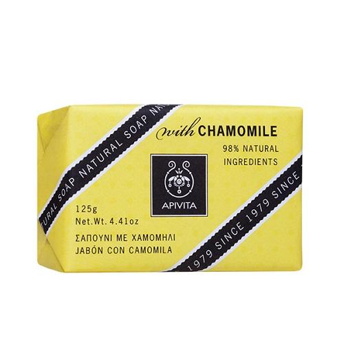 Apivita Natural Soap Natural Chamomile Soap, 125gr