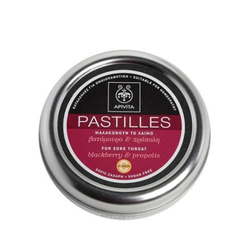 Apivita Pastilles for Sore Throat with Blackberry & Propolis 45g