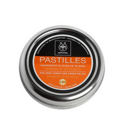 Apivita Pastilles for Coughing and Sore Throat with Liquorice & Propolis 45g