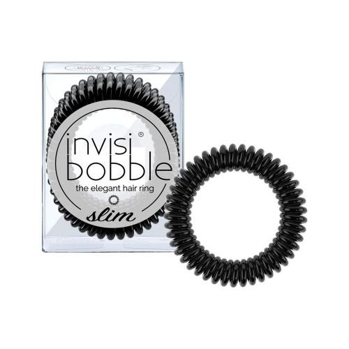 Invisibobble Slim The Elegant Hair Ring True Black 3pcs