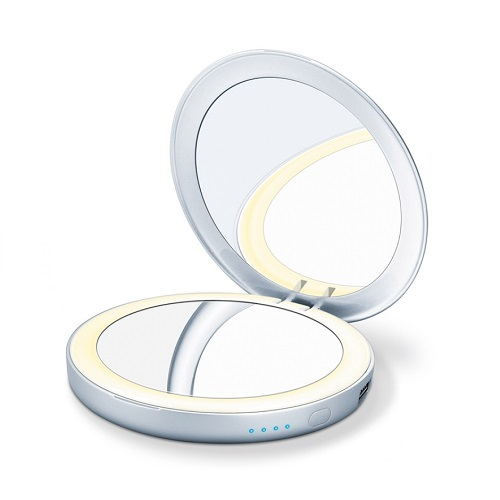 Beurer BS 39 Portable Illuminated Toilet Mirror with Power Bank, 1pcs