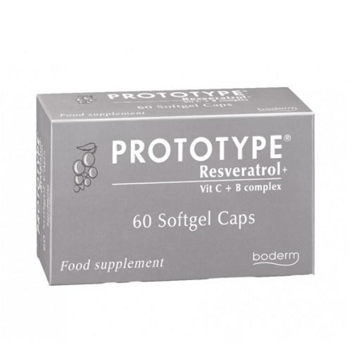 Boderm Prototype Resveratrol - Enhances Skin Texture 60 softgel caps