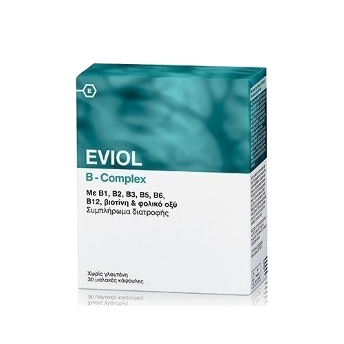 Eviol B-Complex for Normal Nervous System Function, 30 caps