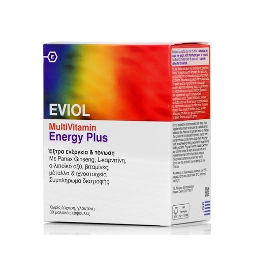 Eviol Multivitamin Energy Plus for Extra Energy & Toning 30 capsules