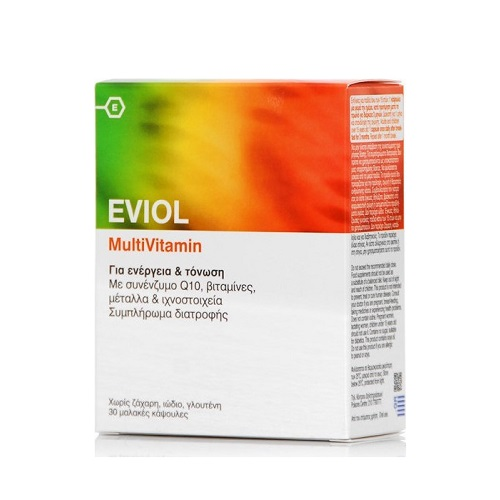 Eviol Multivitamin Πολυβιταμίνη για Ενέργεια & Τόνωση 30caps