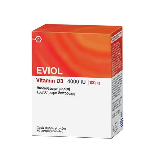 Eviol Vitamin D3 4000iu 100µg, 60 soft caps
