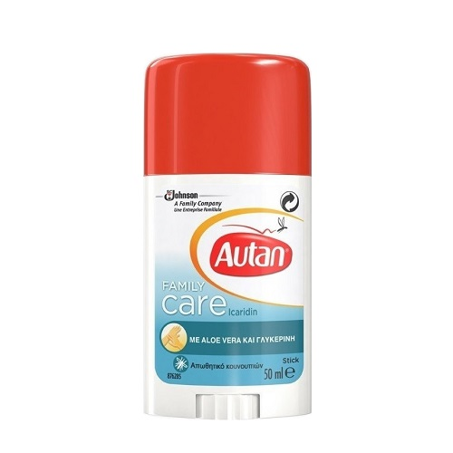 Autan Family Care Stick Anti-mosquito Stick with Aloe Vera and Glycerin 50ml