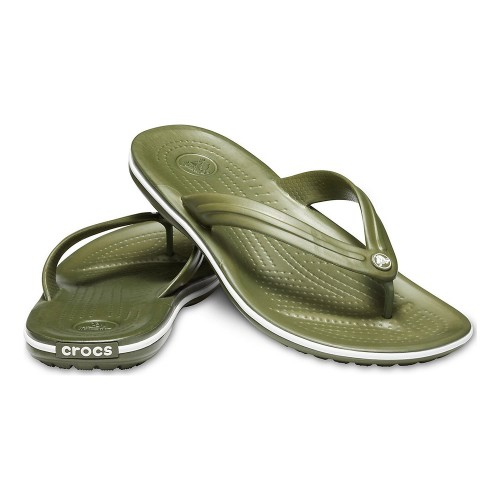 Crocs Crocband Flip 11033-37P Army Green/White