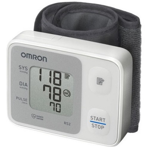 Omron RS2 Electronic Wrist Blood Pressure Meter, 1pc