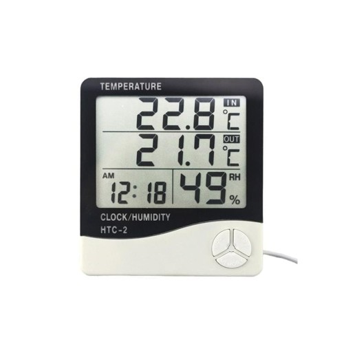 HTC-2 Digital Clock & Thermometer / Hygrometer 1pcs
