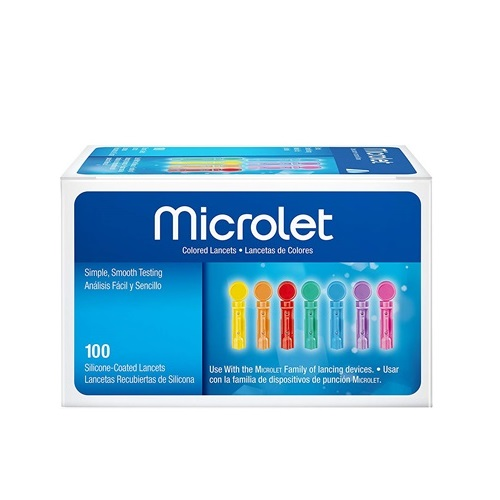 Bayer Ascensia Microlet Coloured Lancets 100pcs