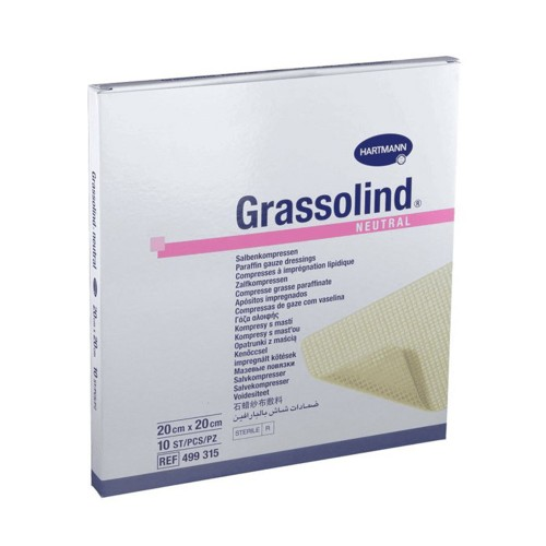 Hartmann Grassolind Non Medicated Ointment Dressing 20x20cm, 10pcs