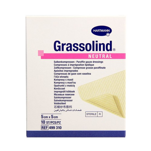 Hartmann Grassolind Non Medicated Ointment Dressing 5x10cm, 10pcs