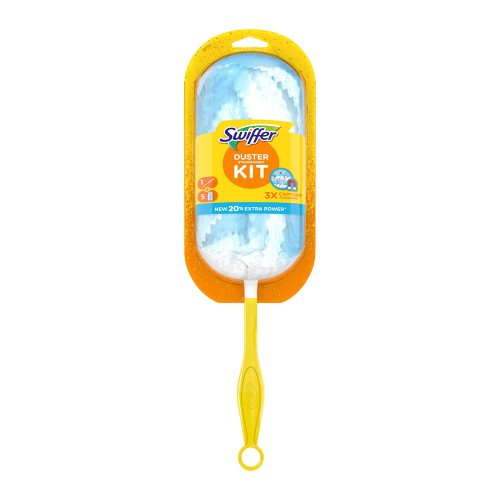 Swiffer Duster Kit with Handle and 5 Feather Dusters