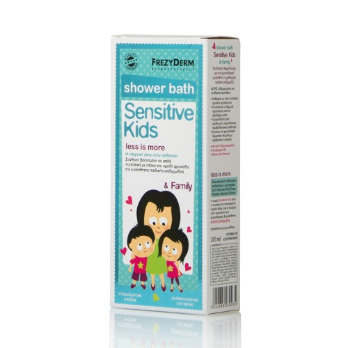 Frezyderm Sensitive Kids Shower Bath Moisturising Body Shower for Children 200ml