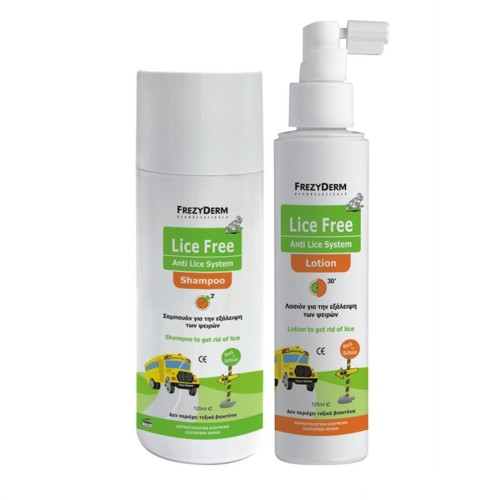 Frezyderm Lice Free Set Sampoo + Lotion + Toothed Comb 2x125ml