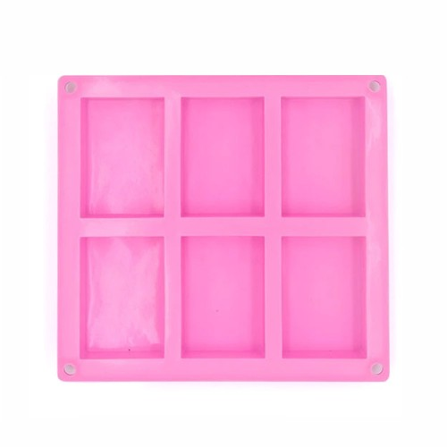 6-Cavity Silicone Soap Mold, 1piece
