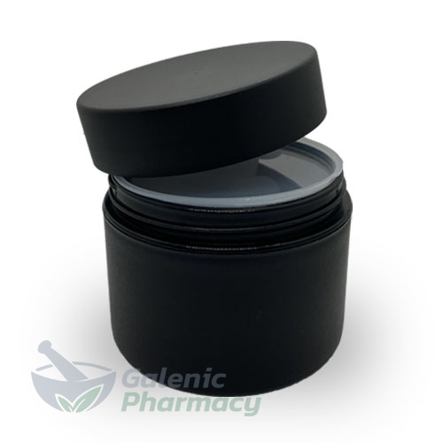 Empty Refillable Black PP Plastic Jar 100ml, 1pcs