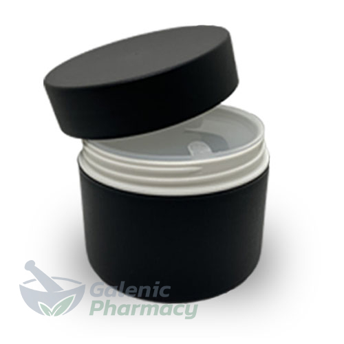 Empty Refillable Black PP Plastic Jar 150ml, 1pcs