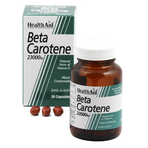 Health Aid Beta Carotene 23000iu 30 κάψουλες