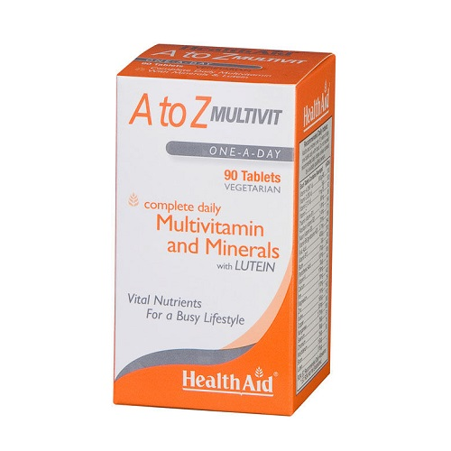 Health Aid A to Z Multivit with Lutein Multivitamins, 90 tabs