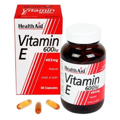Health Aid Vitamin E 600iu Natural 60 capsules