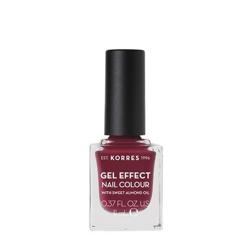 Korres Gel Effect Nail Colour No.74 Berry Addict Βερνίκι Νυχιών, 11ml