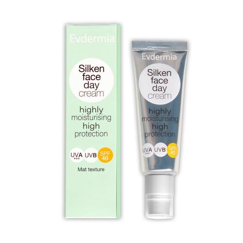 Evdermia Silken Face Day Cream Highly Moisturising High Protection SPF40 50ml