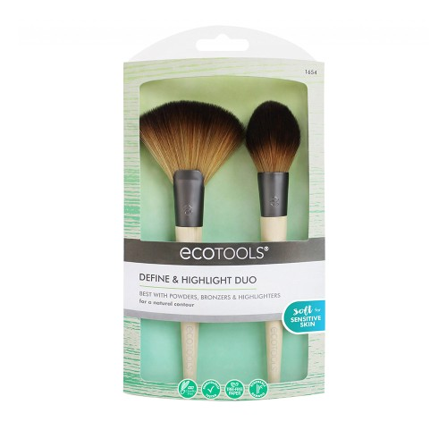 EcoTools Define & Highlight Duo Makeup Brushes for Powders, Bronzers and Highlighter