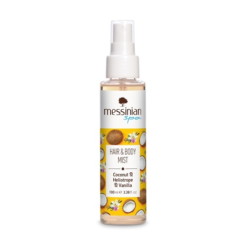 Messinian Spa Hair & Body Mist Coconut, Sunflower & Vanilla 100ml