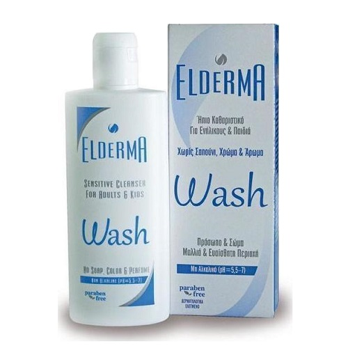 Elderma Wash Gentle Cleanser for Face & Body, 200ml