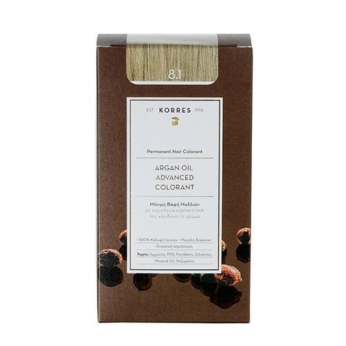 Korres Argan Oil Advanced Colorant 8.1 Sandy Blonde