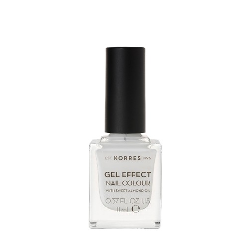 Korres Gel Effect Nail Colour No.01 Blanc White 11ml