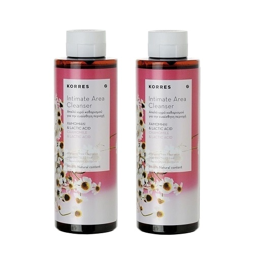 Korres Intimate Area Cleanser with Chamomile & Lactic Acid, 2x250ml