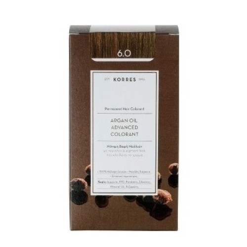 Korres Argan Oil Advanced Colorant 6.0 Blonde Dark Natural