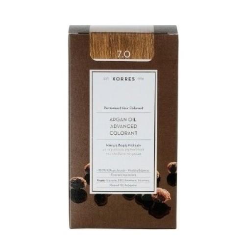 Korres Argan Oil Advanced Colorant 7.0 Blond Natural