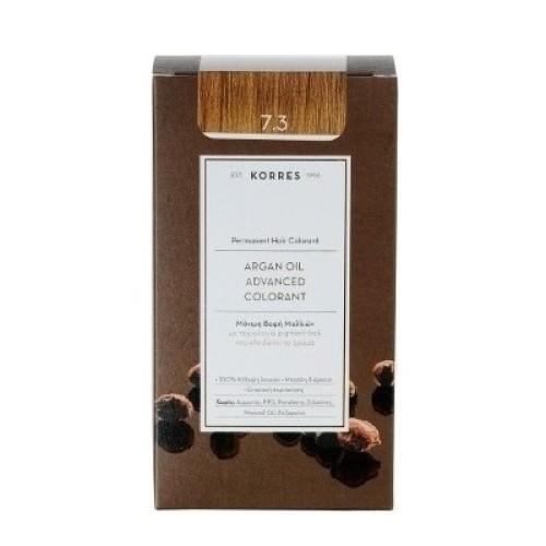 Korres Argan Oil Advanced Colorant 7.3 Blond Gold Honey