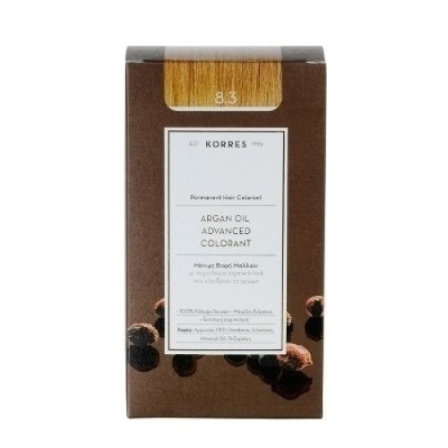 Korres Argan Oil Advanced Colorant 8.3 Blond Light Honey
