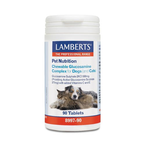 Lamberts Pet Nutrition Chewable Glucosamine Complex for Dogs and Cats 90tabs