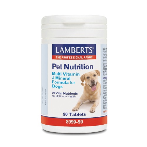 Lamberts Pet Nutrition Multi Vitamin & Mineral for Dogs 90tabs