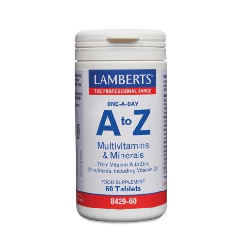 Lamberts A to Z Multivitamins & Minerals 60tabs