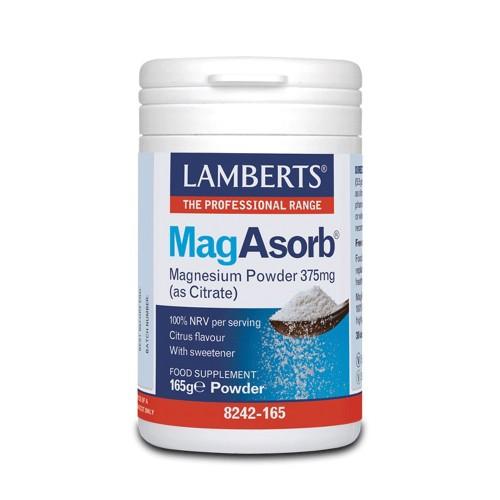 Lamberts Mag Asorb Magnesium Powder 375mg (as Citrate) 165gr