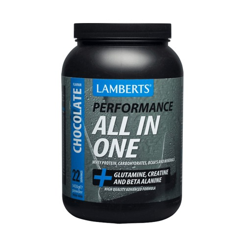 Lamberts Performance All In One Whey Protein (+Glutamine, Creatine & Beta Alanine) 1450g Chocolate