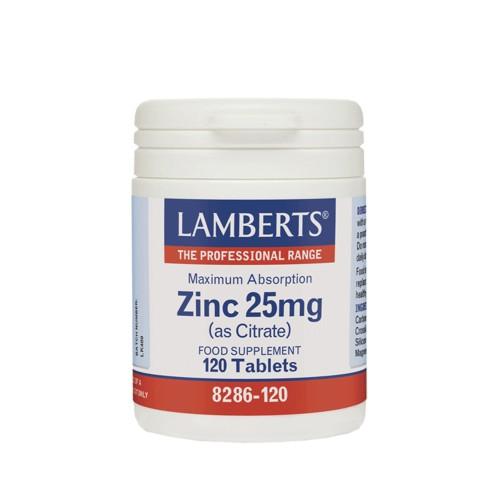 Lamberts Zinc 25mg (as Citrate) 120tabs