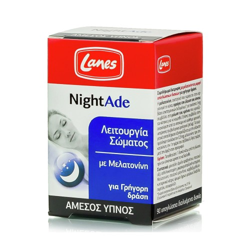 Lanes NightAde for Natural and Instant Sleep 90 sublingual tablets